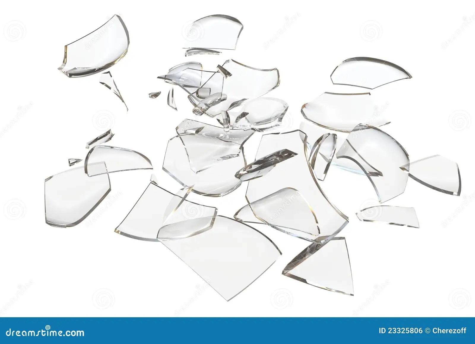 Zersplittert Glas Zerschmetterte Nachricht Stock Abbildung