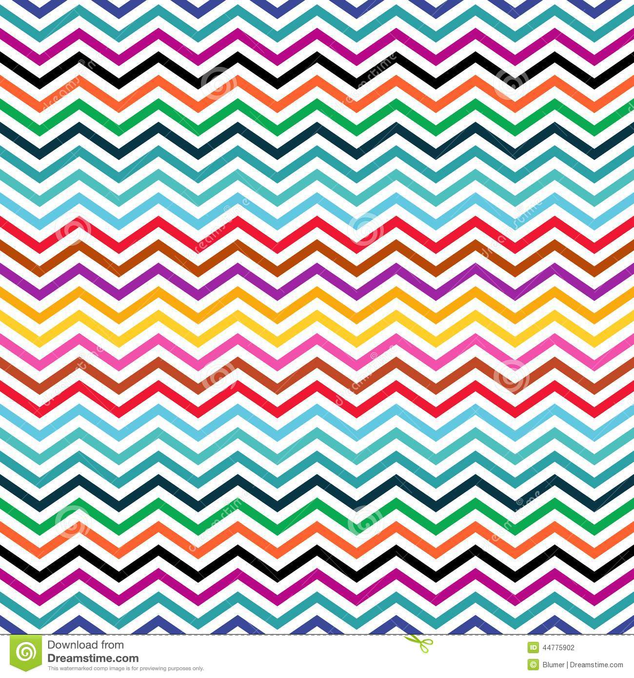 Zigzag Background Stock Vector Illustration Of Colors