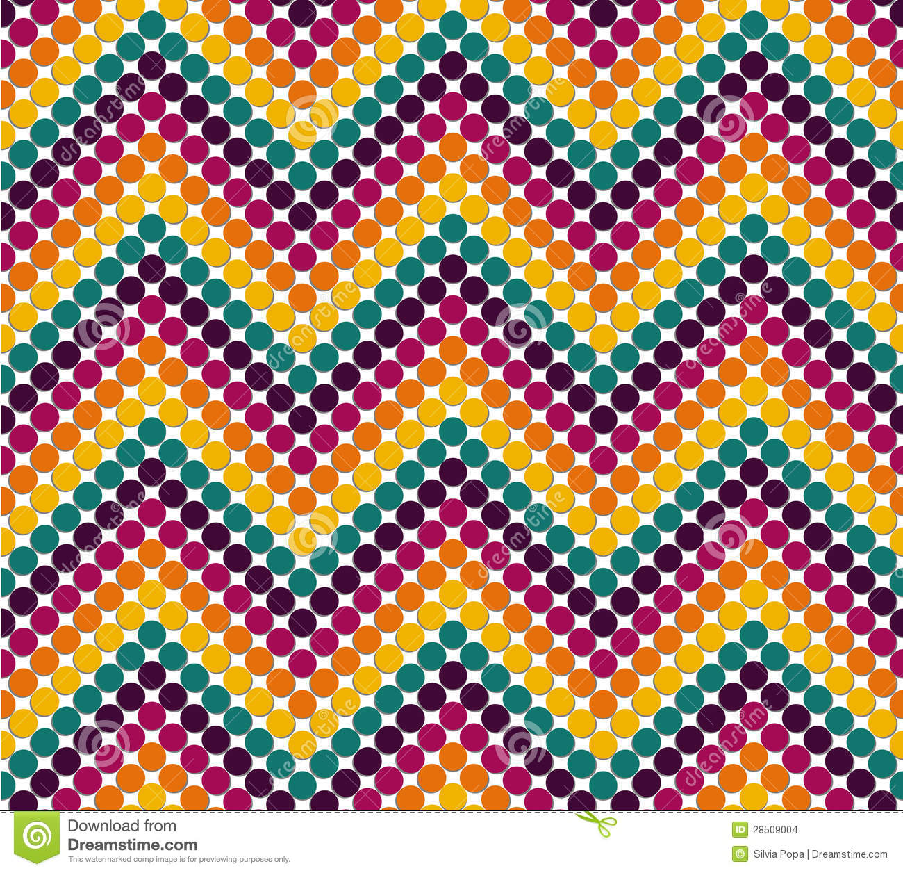 Zigzag Pattern In Cute Color Stock Illustration
