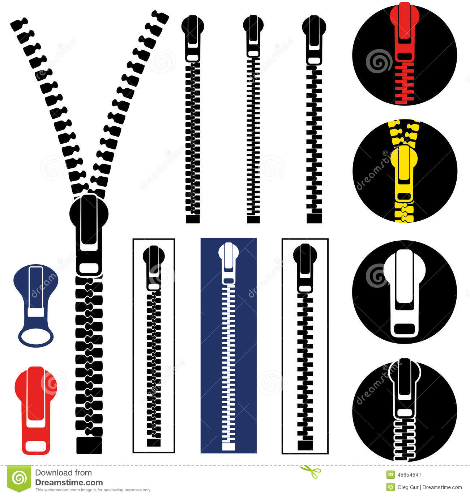 Zipper Cartoon Vector