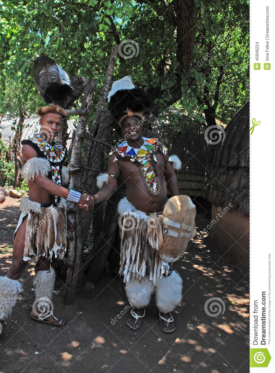 Zulu Men South Africa Editorial Stock Image Image Of