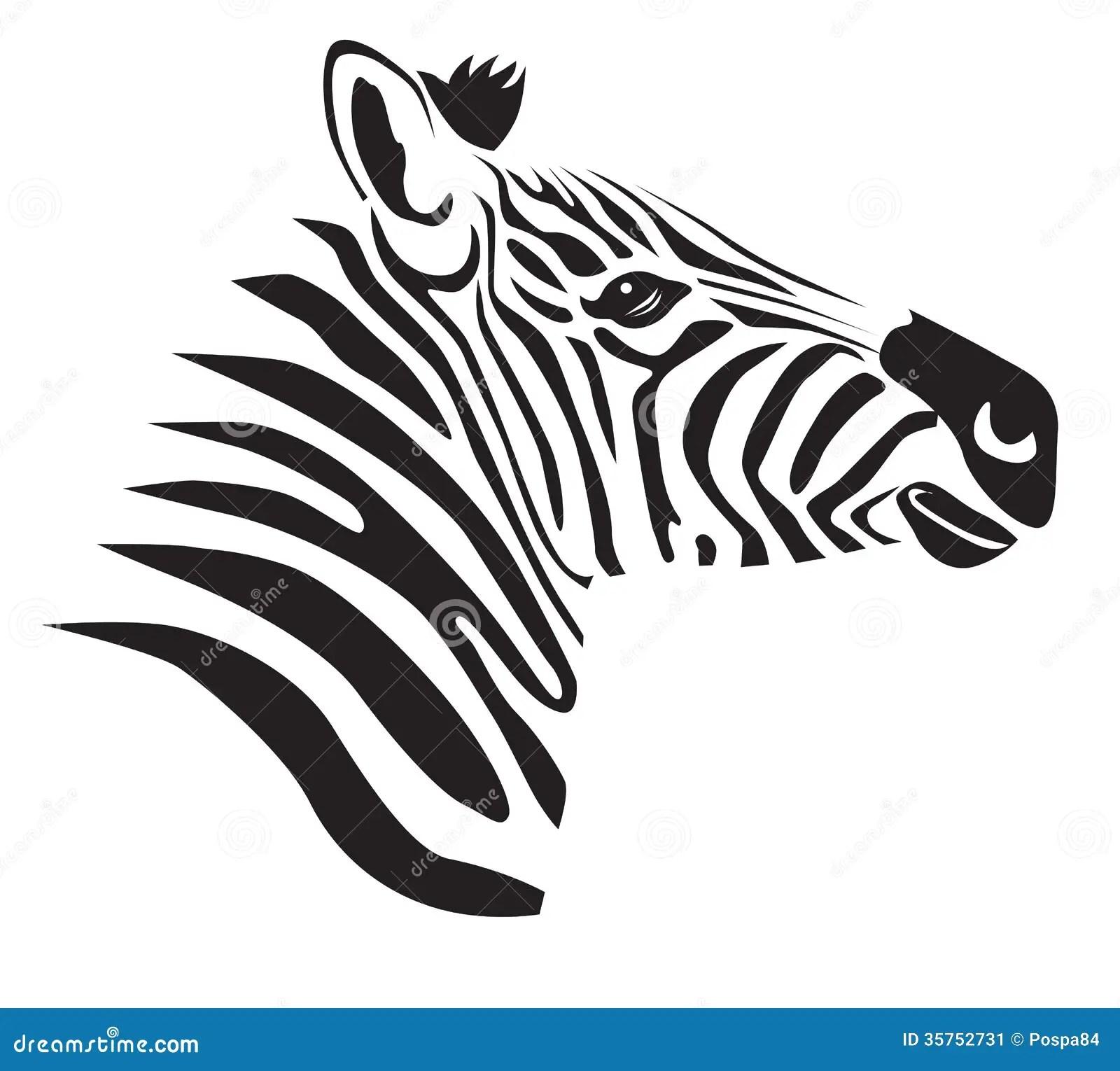 Zwarte Zebra Stock Illustratie Illustratie Bestaande Uit