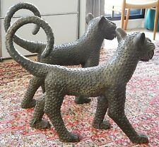 A pair of Benin bronze Leopards