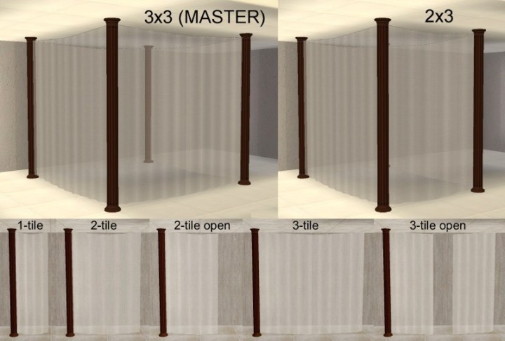 Your Sims Will Walk Through The Curtains And You Can Click Them To Use Objects Inside Only Columns Are Solid