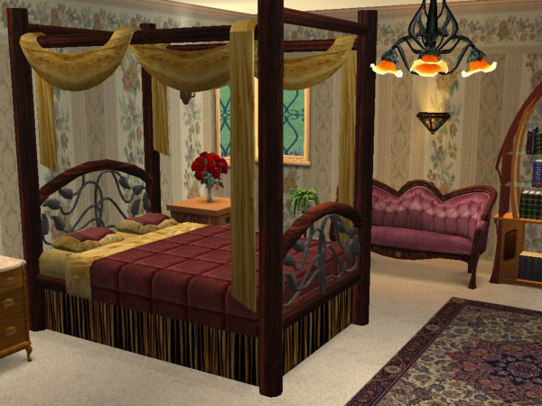 Mod The Sims Midnight Mystery Canopy Bed Amp 1 Recolor