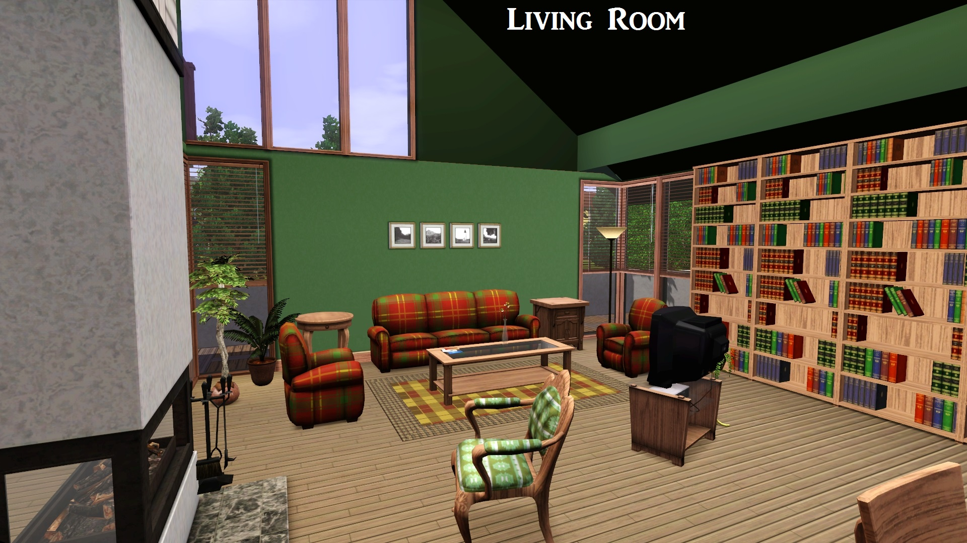 Mod The Sims - 90's Contemporary House on 90 Room  id=42140