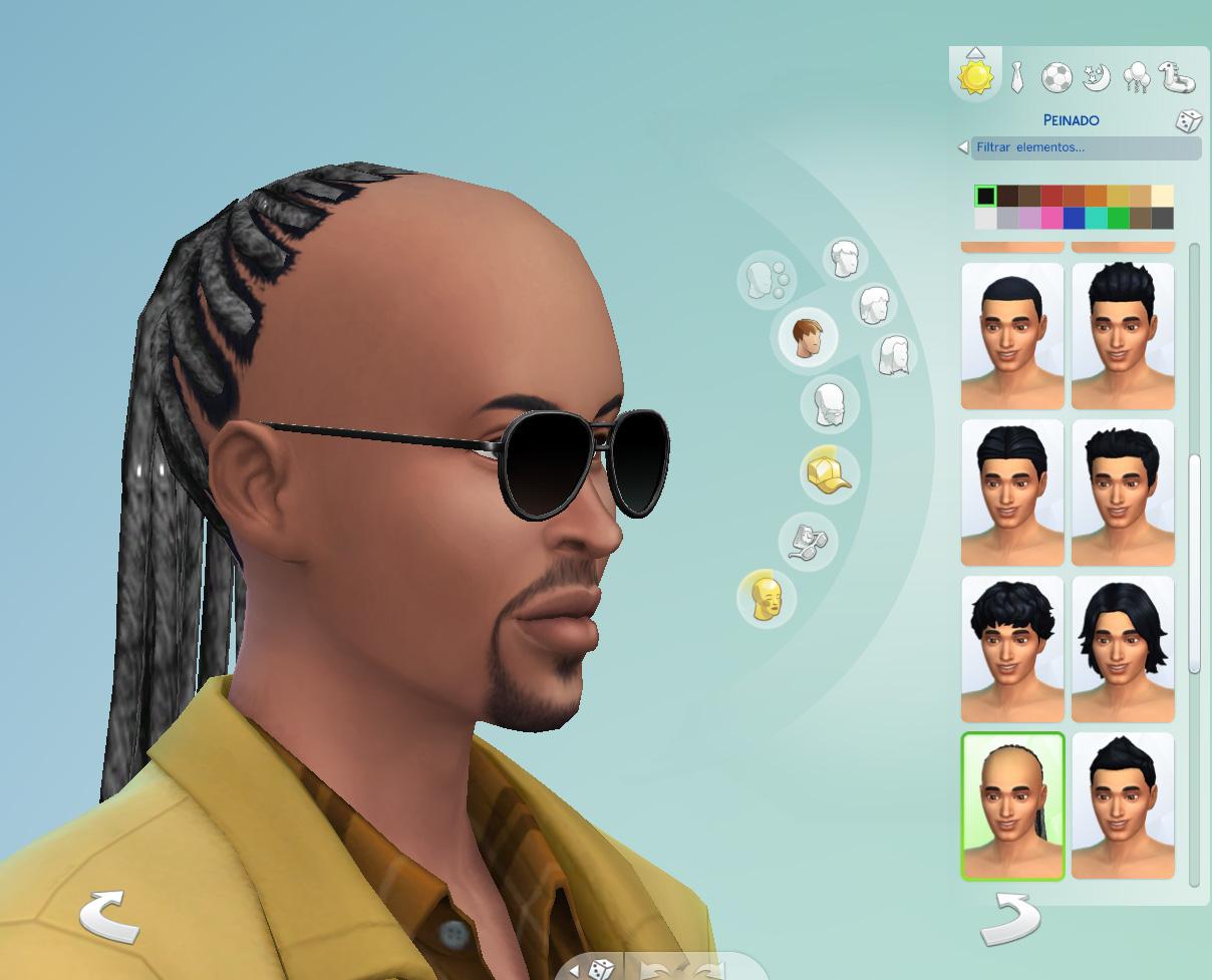 Mod The Sims Stevie Wonder Braided Hair Unisex Child