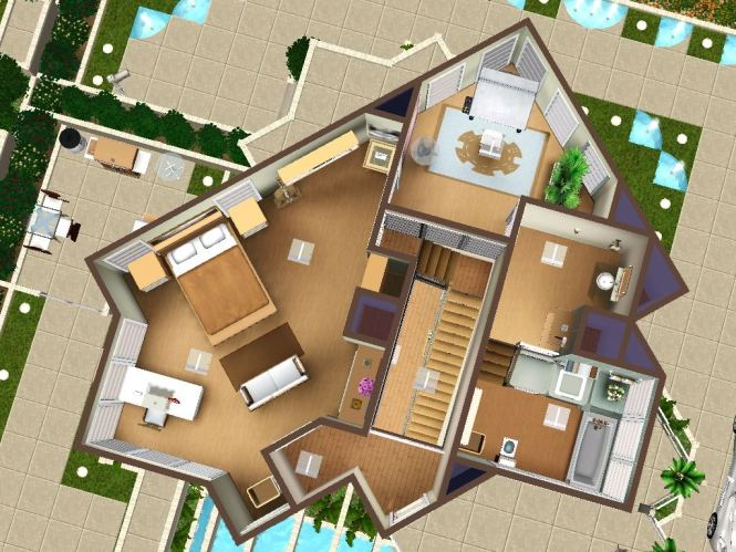 sims 3 4 bedroom house design 09 17 14 2 41nbspamcopy zps8f23c88ajpg sims4 the chocolate house - Sims 4 Home Design 2
