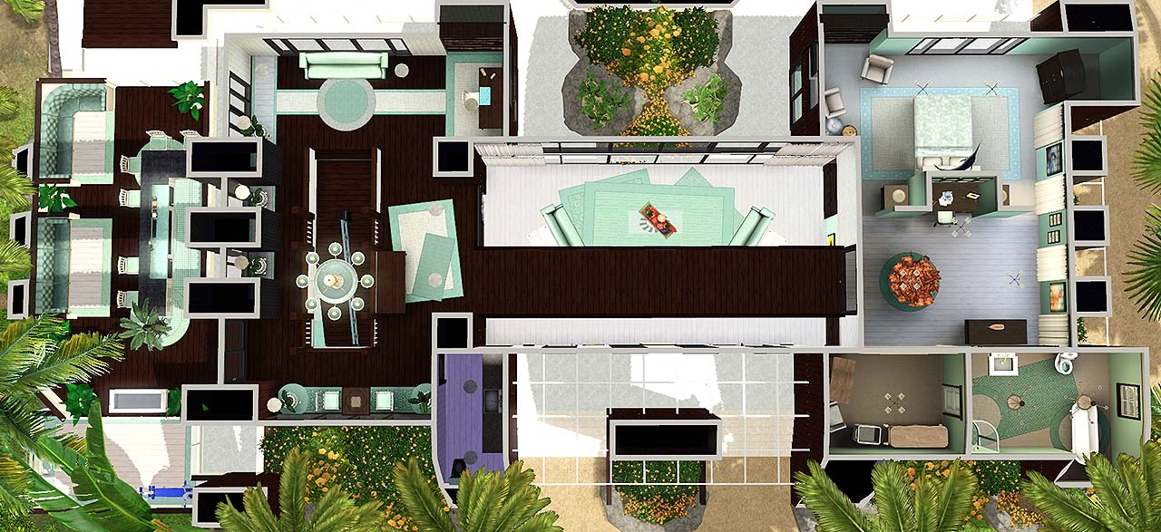 Must have gorgeous sims 3 houses and villas sims 3 mod for Minimalist house sims 3