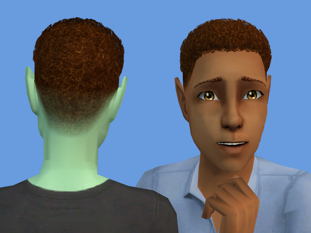 Mod The Sims Curly Fade Cut Default Non Default