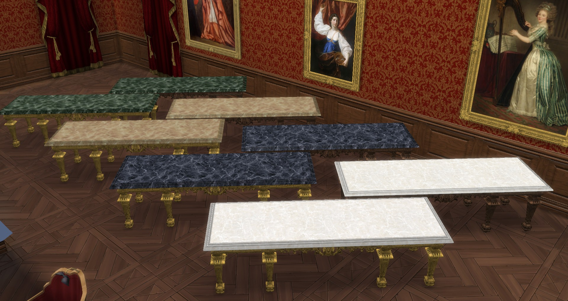 Mod The Sims XVIIth Century ConsoleDining Table Patch
