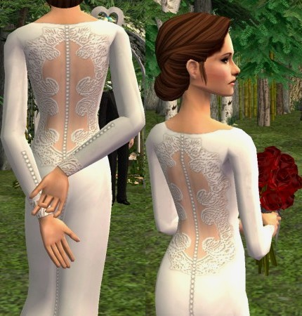 Mod The Sims Bellas Wedding Gown