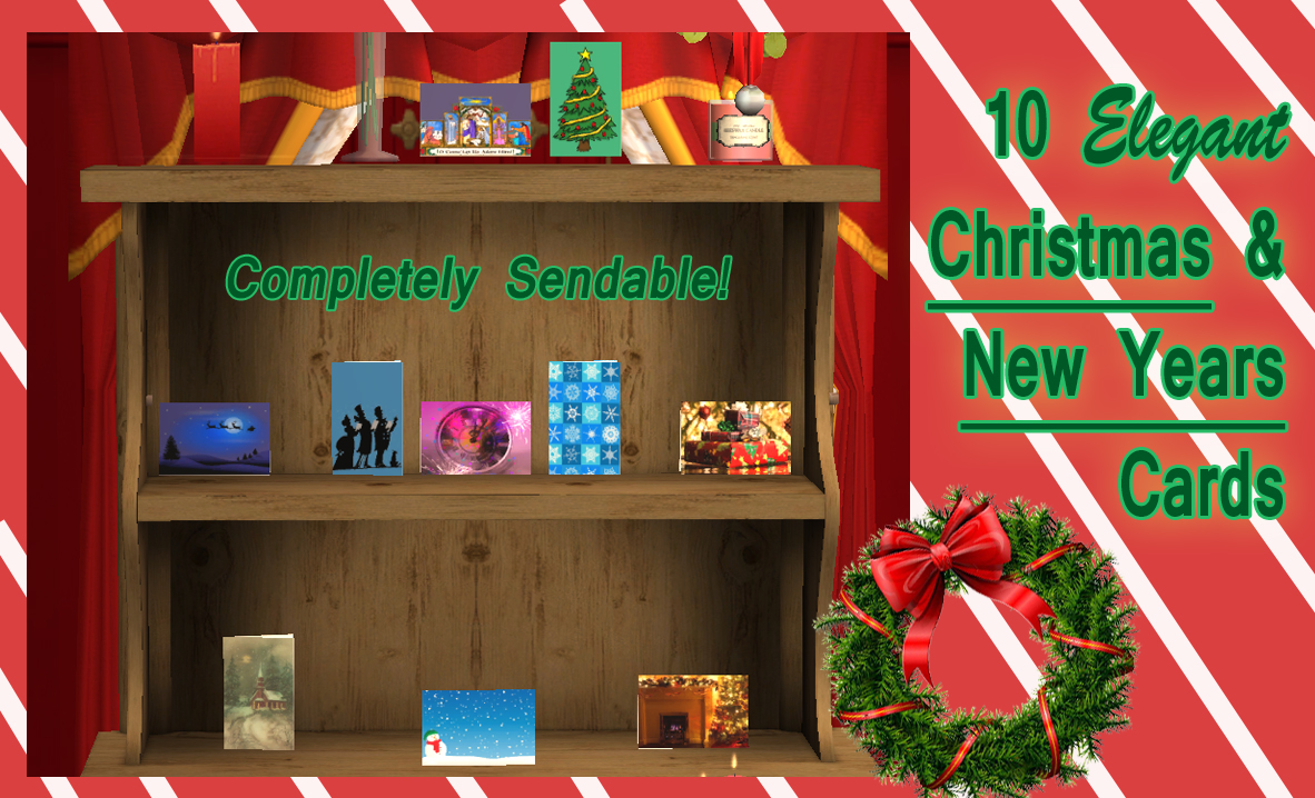 Mod The Sims Ten Sendable Christmas And New Years Cards