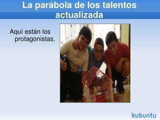 PPT La Parabola De Los Talentos PowerPoint Presentation