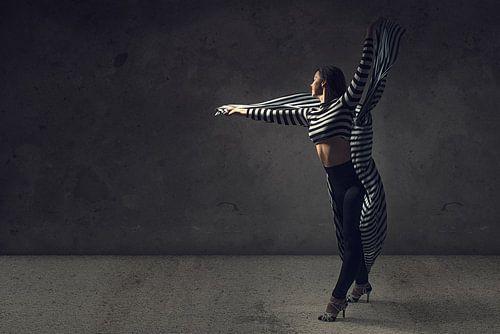 Dans met zwart wit