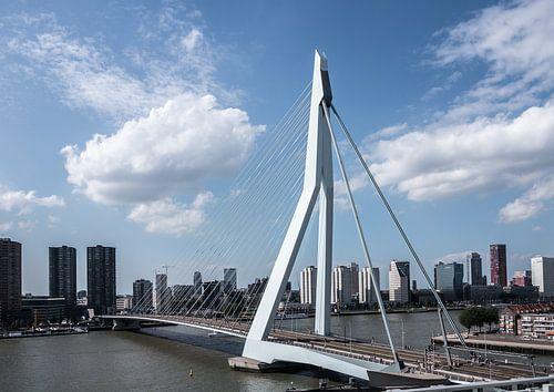 Erasmusbrug en skyline van Rotterdam
