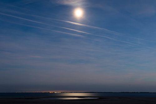 Maanlicht op de Maasvlakte