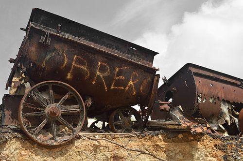 oude mijnwagen Bonaire