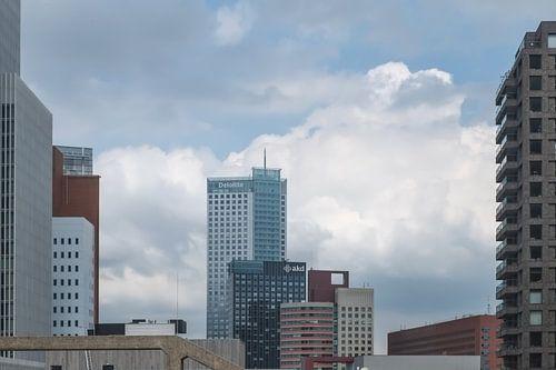 Bossen van hoogbouw in Rotterdam