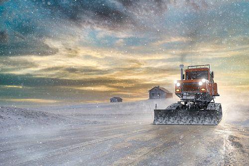 Flatruet in de sneeuw