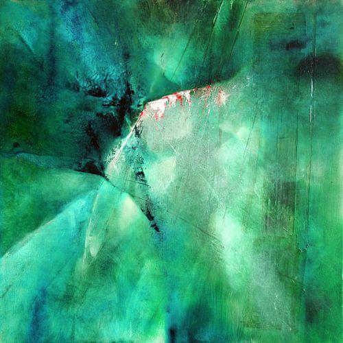 Abstrakte Komposition: Grüne Energie
