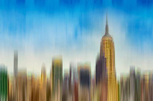Abstracte skyline Manhattan New York