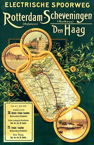 Affiche Rotterdam-Hofplein - Scheveningen-Kurhaus 1910