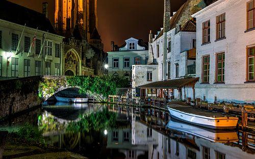 Brugge tijdens de nacht