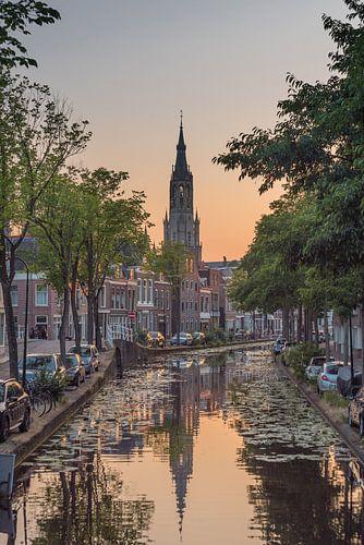 Delft - Nieuwe kerk zonsondergang