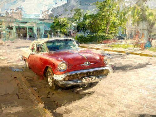 Rode Cubaanse Oldtimer