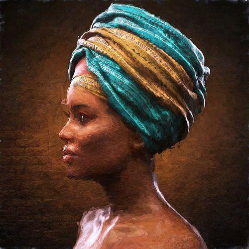 Geschilderde Afrikaanse schoonheid