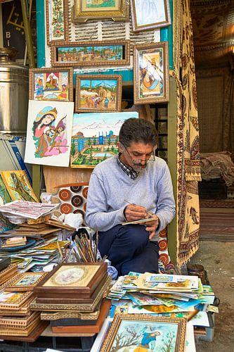 Kunstenaar in Isfahan Iran