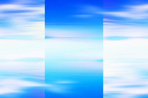 Abstract licht blauwe zeegezicht