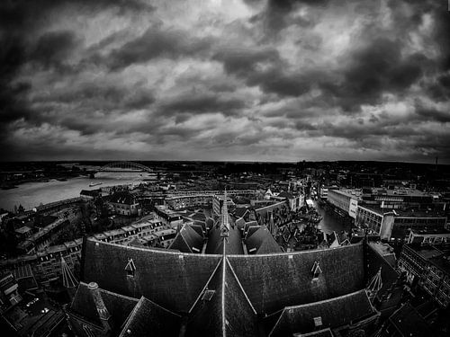 Dark clouds over Nijmegen