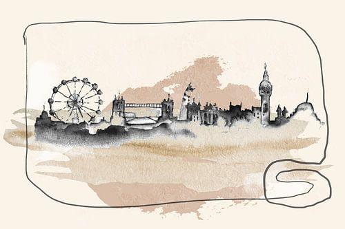 Geschilderde Skyline Londen