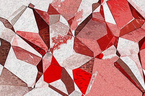 Rode Impressionistische Polygons