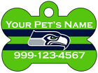 Seattle Seahawks Custom Pet Id Dog Tag Personalized w/ Your Pet's Name & Number