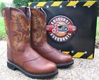NEW Mens Justin Tan All Leather Stampede Western Cowboy Work Boots Style WK4655