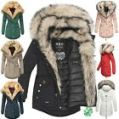 Navahoo Sweety Damen Jacke Mantel Parka Blogger Trend XXL Doppel Fell All-In-One