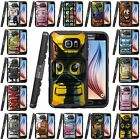 Samsung Galaxy S6 Active | Clip + Holster + Case Combo Kickstand Cartoons