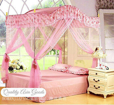 size pink ruffled canopy cover top for a canopy bed on Pink Canopy For Twin Bed id=29085