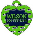 NFL Pet Id Tag for Dogs & Cats Personalized w/ Your Pet's Name and Number