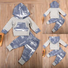 Xmas Gift! Fashion Toddler Baby Boys Tops Hoodie Pants Home Outfits 2Pcs Clothes