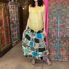 INDIAN VINTAGE PATCHWORK LONG SKIRT BOHO GYPSY HIPPIE CHIC ETHNIC WOMENS SKIRTS