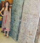 2 in 1 Dress And Maxi Skirts Hippie Boho Printed Recycled Silk Sari Two Layer  S