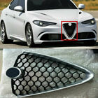 Auto Outside Front Middle Mesh Grille Cover For Alfa Romeo 20T Giulia Silver