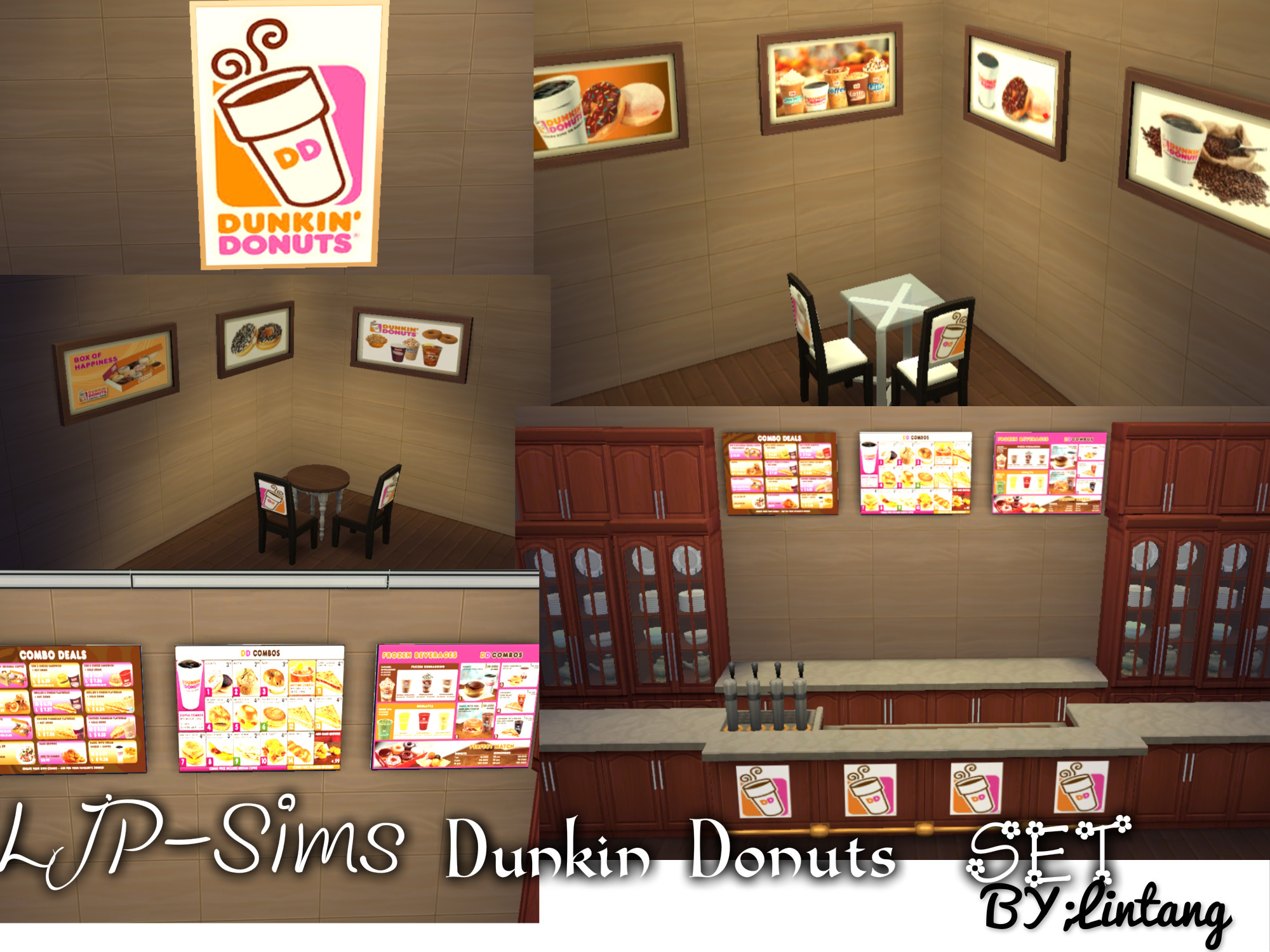 Mod The Sims Dunkin Donuts Set
