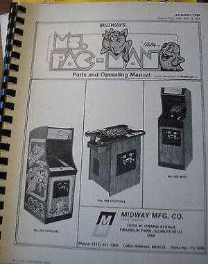 Original 1981 Midway RallyX Arcade Game Parts and