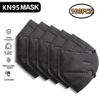100 Black Color KN95 Protective 5 Layer Face Mask Disposable Respirator BFE 95%