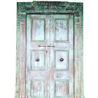 RUSTIC ANTIQUE DOORS INDIA STYLE DECOR HAND CARVED ARCHITECTURAL 18C TEAK DOOR